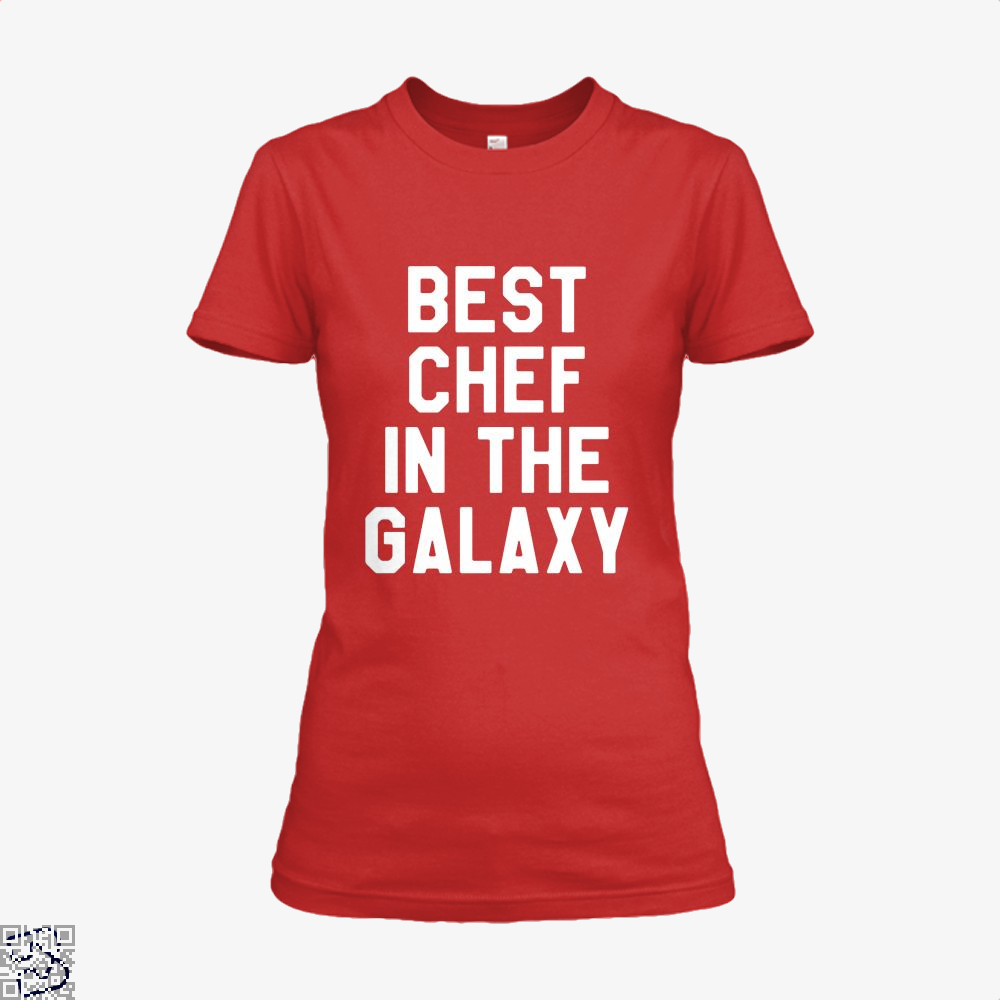 Best Chef In The Galaxy Chefs Shirt - Women / Red / X-Small - Productgenapi