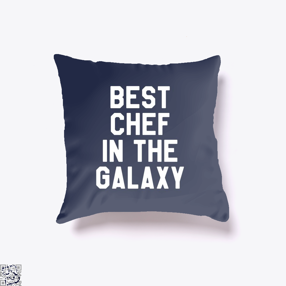 Best Chef In The Galaxy Chefs Throw Pillow Cover - Blue / 16 X - Productgenapi
