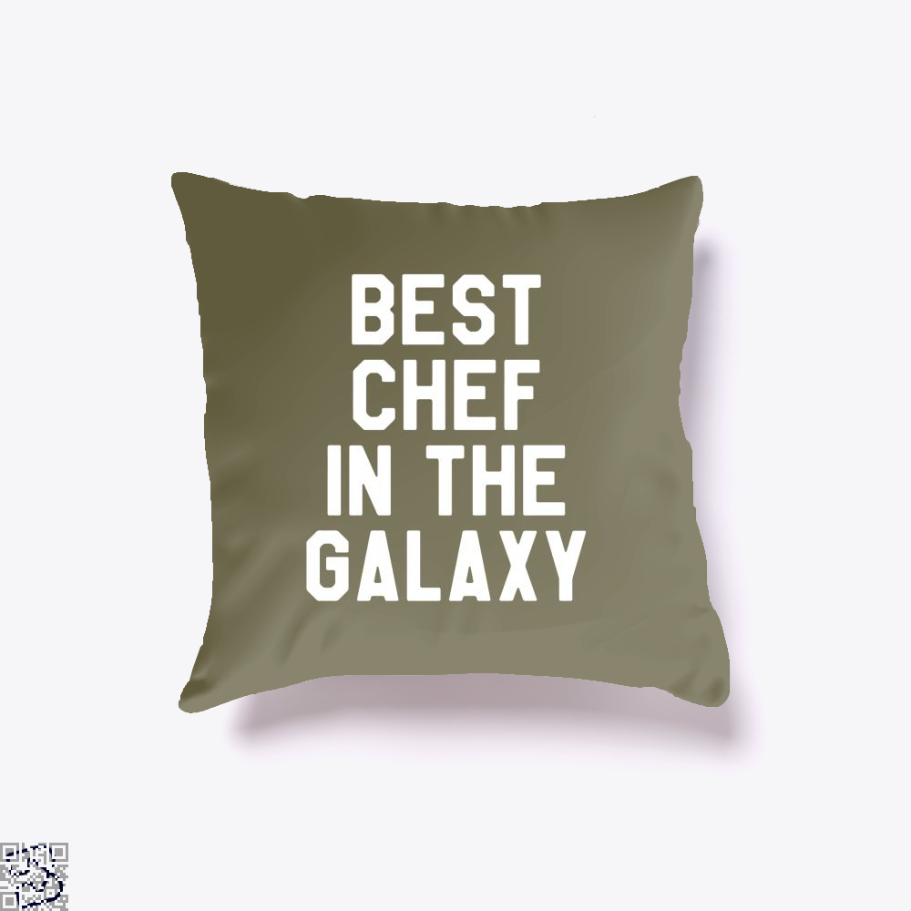 Best Chef In The Galaxy Chefs Throw Pillow Cover - Brown / 16 X - Productgenapi