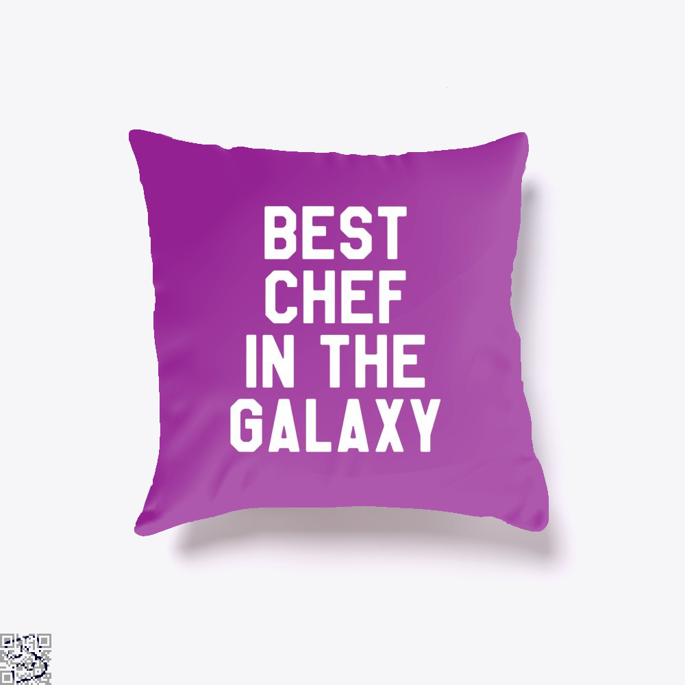 Best Chef In The Galaxy Chefs Throw Pillow Cover - Purple / 16 X - Productgenapi