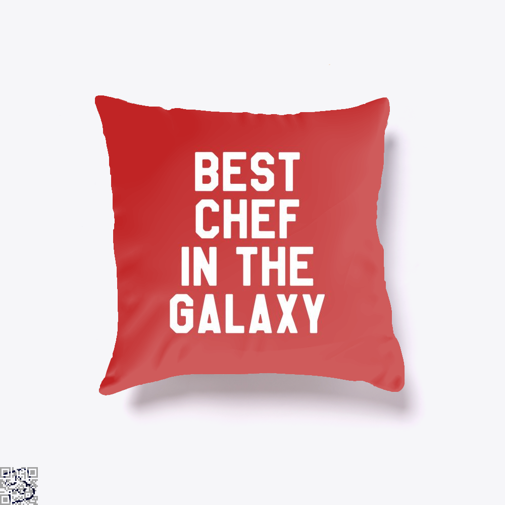 Best Chef In The Galaxy Chefs Throw Pillow Cover - Red / 16 X - Productgenapi