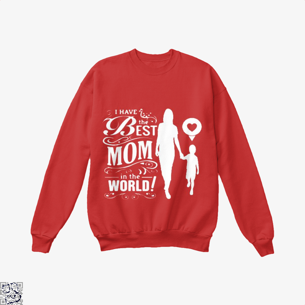 Best Mom Mothers Day Crew Neck Sweatshirt - Red / X-Small - Productgenjpg