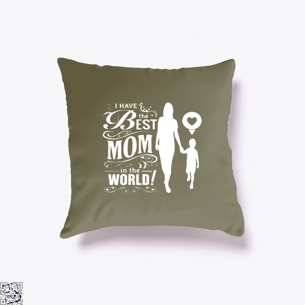 Best Mom Mothers Day Throw Pillow Cover - Brown / 16 X - Productgenjpg