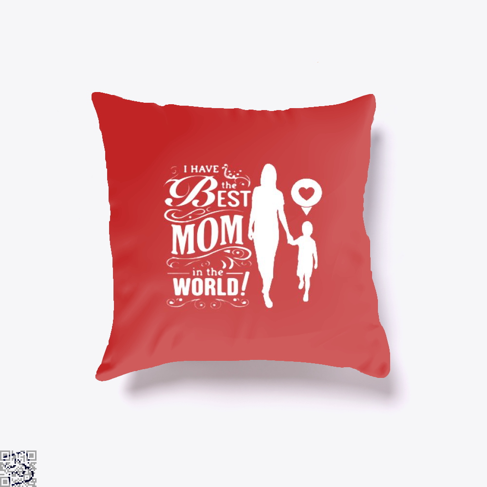 Best Mom Mothers Day Throw Pillow Cover - Productgenjpg