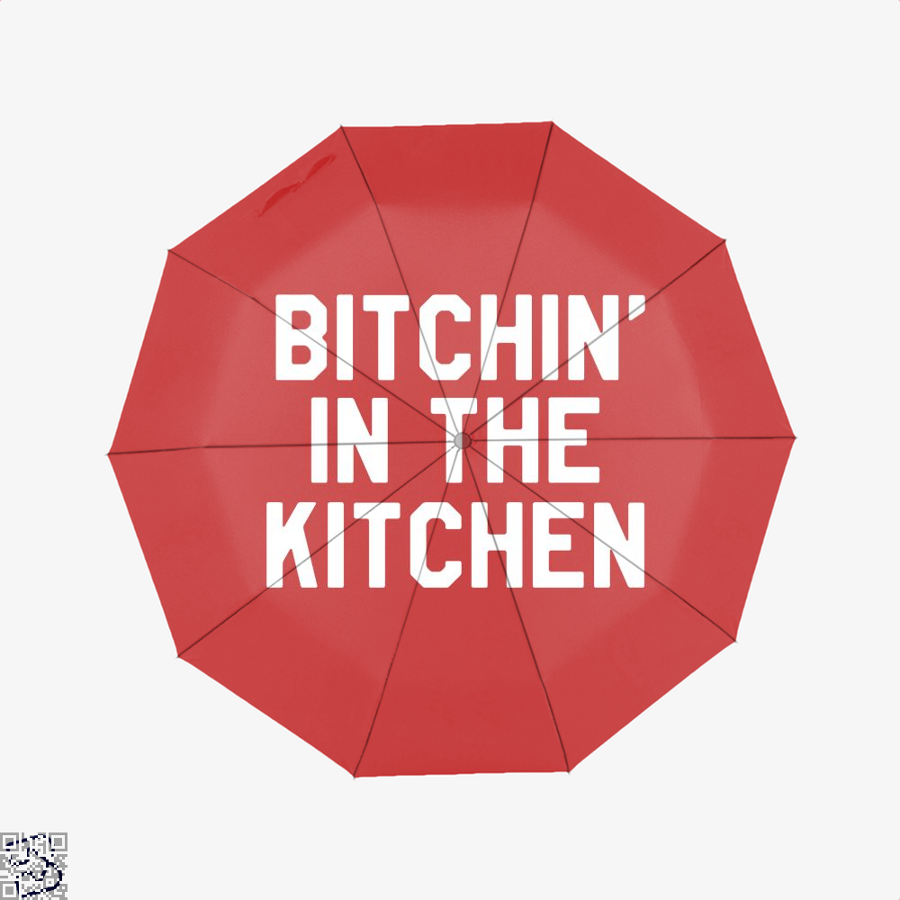 Bitchin In The Kitchen Chefs Umbrella - Red - Productgenapi