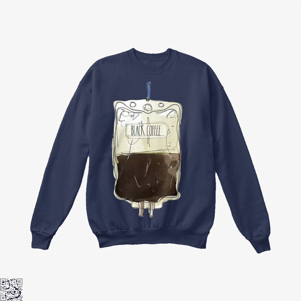 Black Coffee Infusion Crew Neck Sweatshirt - Blue / X-Small - Productgenapi
