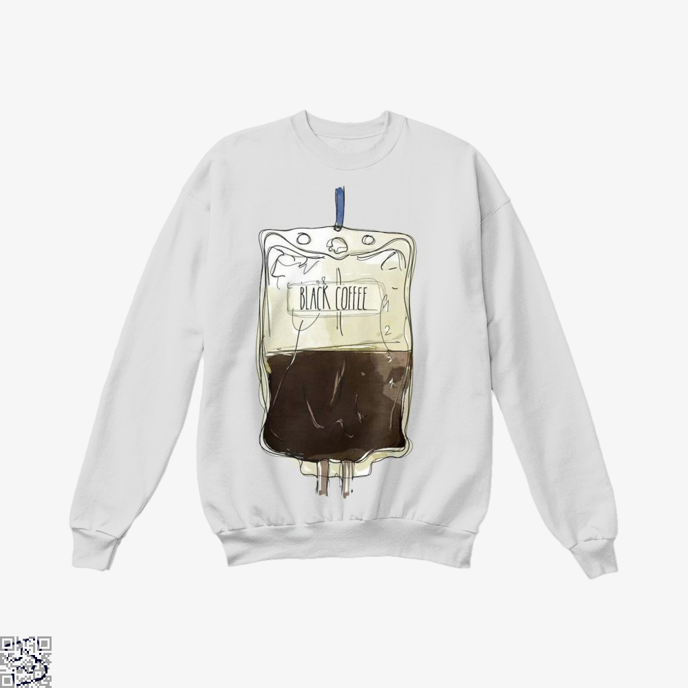 Black Coffee Infusion Crew Neck Sweatshirt - White / X-Small - Productgenapi
