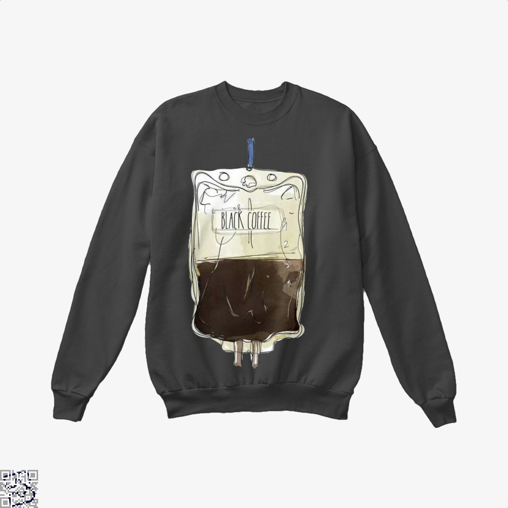Black Coffee Infusion Crew Neck Sweatshirt - / X-Small - Productgenapi