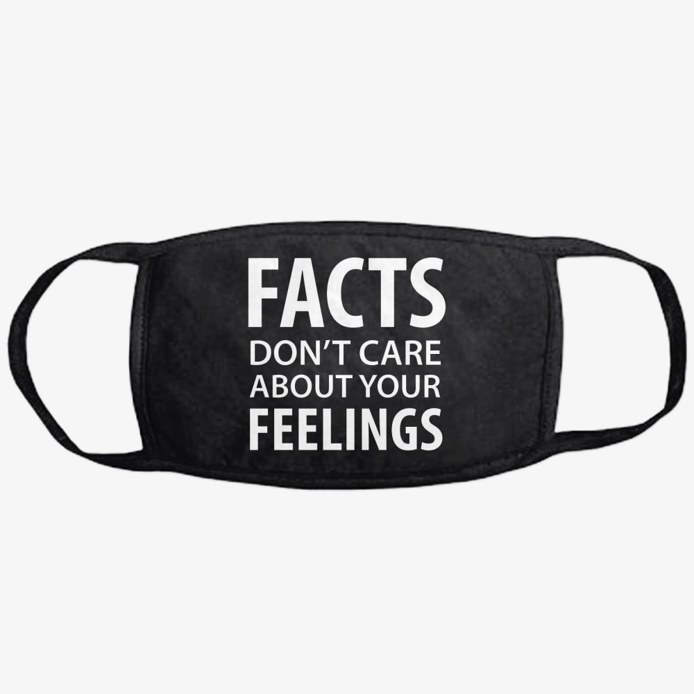 Facts Feelings, Conservative Classic Reusable Mask