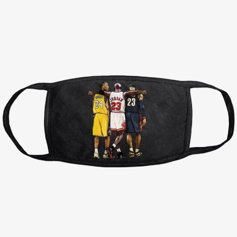 Kobe Michael Lebron James, National Basketball Association Classic Reusable Mask