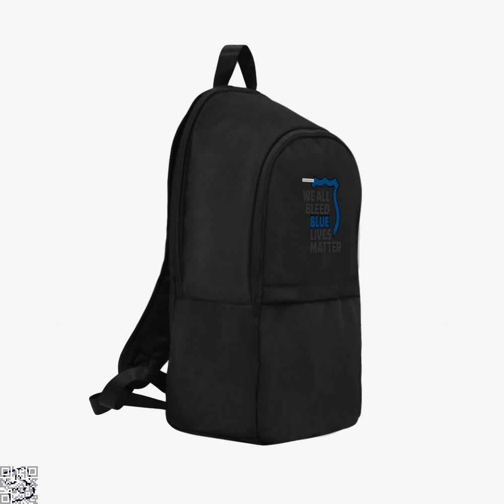 Blue Lives Matter We All Bleed Droll Backpack - Productgenjpg