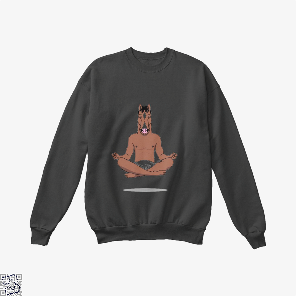 Bojack Peace Of Mind Horse Crew Neck Sweatshirt - Black / X-Small - Productgenjpg