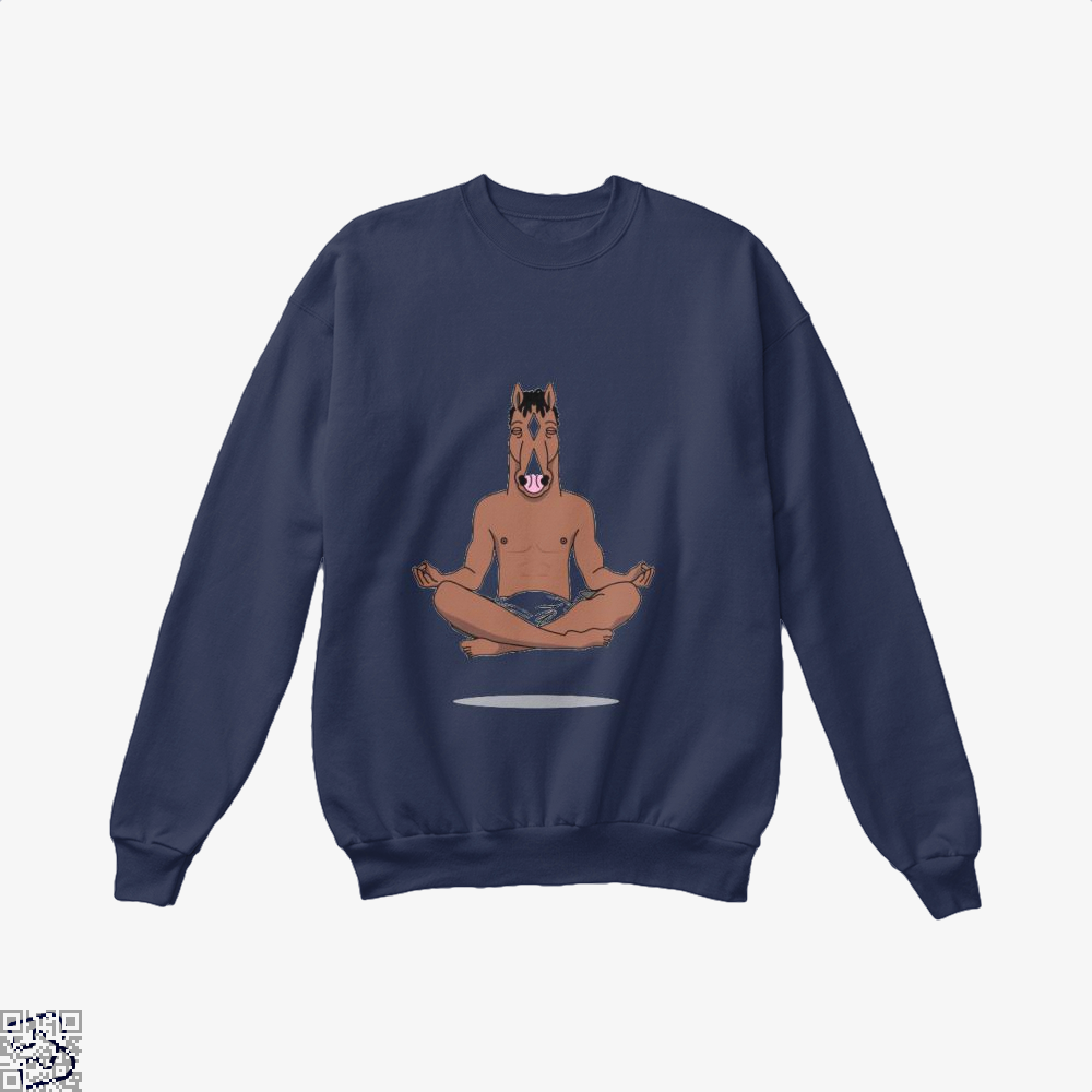 Bojack Peace Of Mind Horse Crew Neck Sweatshirt - Blue / X-Small - Productgenjpg