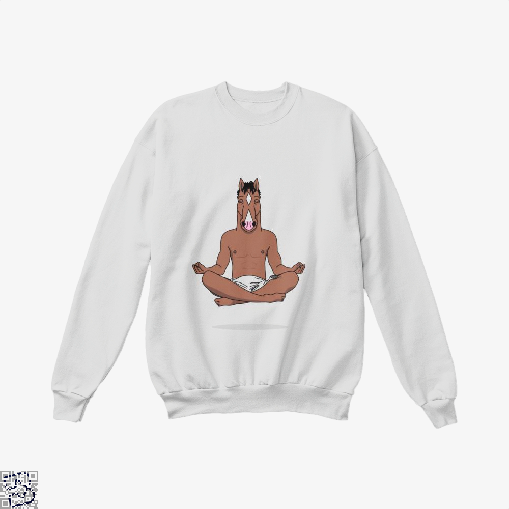 Bojack Peace Of Mind Horse Crew Neck Sweatshirt - White / X-Small - Productgenjpg
