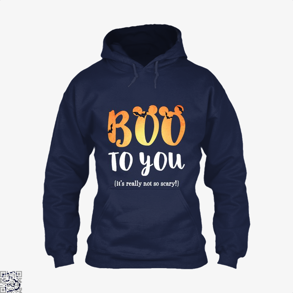 Boo To You Halloween Hoodie - Blue / X-Small - Productgenjpg