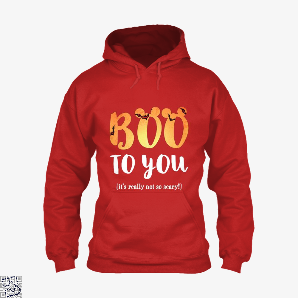 Boo To You Halloween Hoodie - Red / X-Small - Productgenjpg
