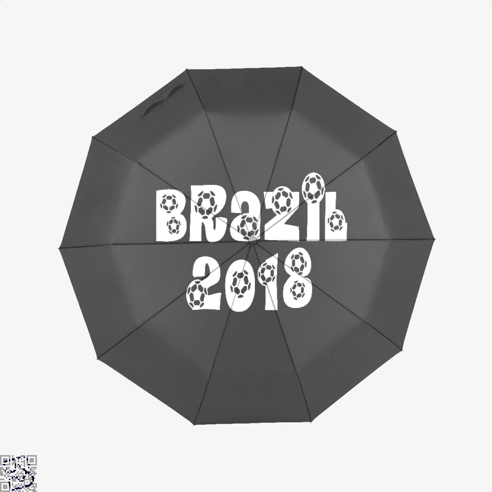 Brazil 2018 Fifa World Cup Umbrella - Black - Productgenapi