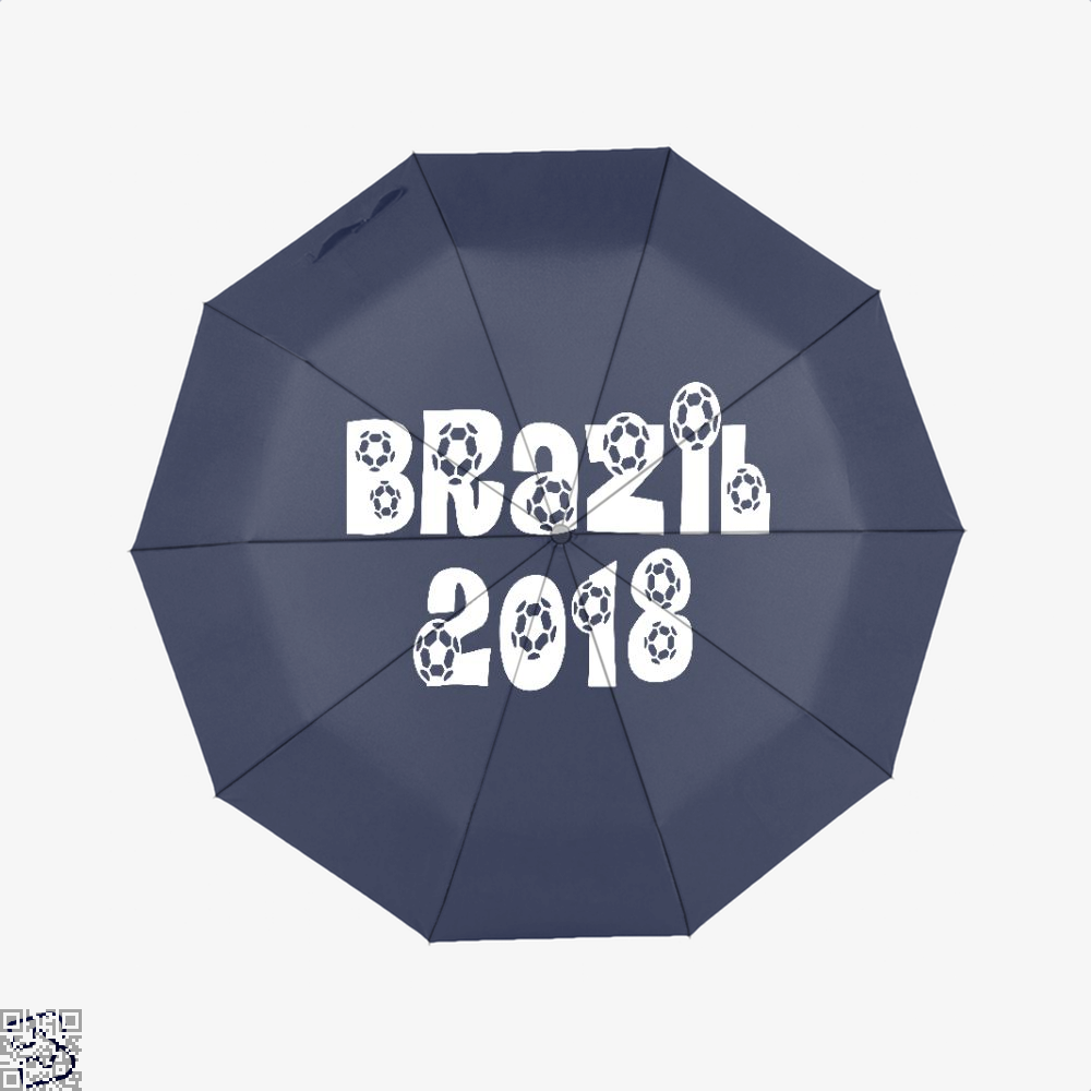 Brazil 2018 Fifa World Cup Umbrella - Blue - Productgenapi