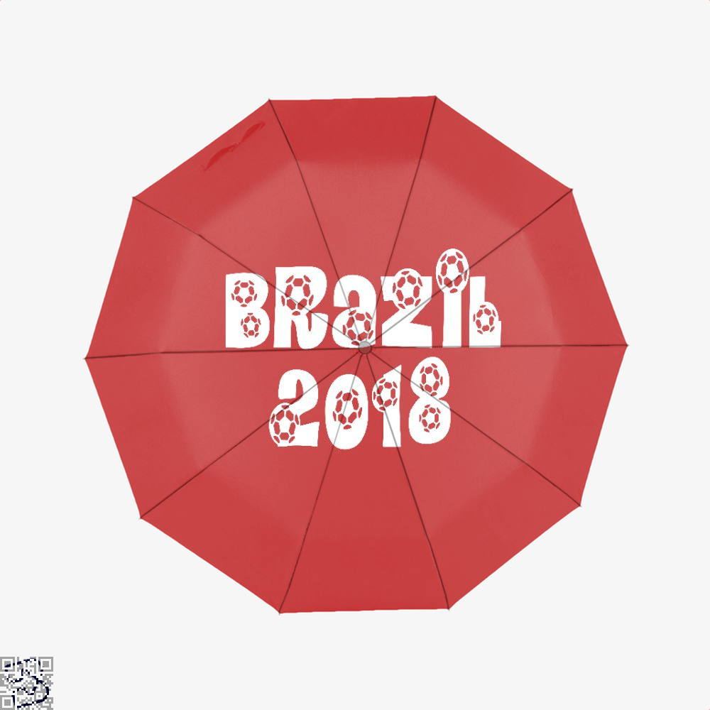 Brazil 2018 Fifa World Cup Umbrella - Red - Productgenapi