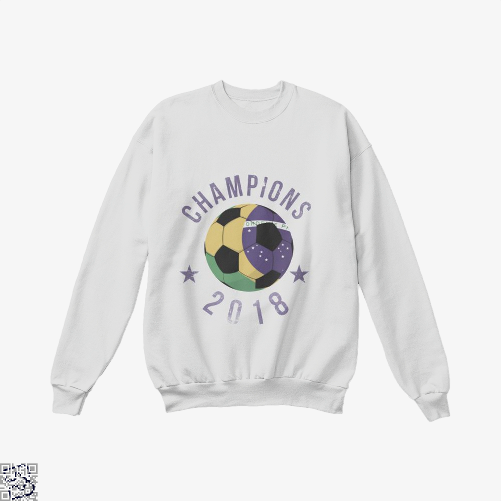 Brazil Soccer Team Football Cup 2018 Fifa World Crew Neck Sweatshirt - White / X-Small - Productgenapi