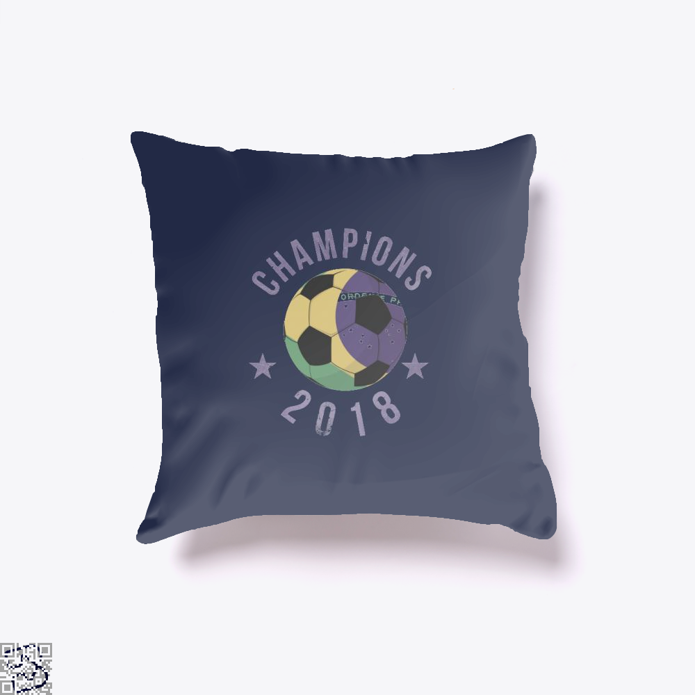 Brazil Soccer Team Football Cup 2018 Fifa World Throw Pillow Cover - Blue / 16 X - Productgenapi