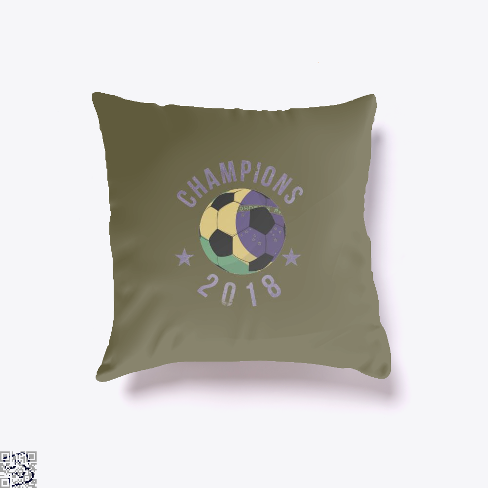 Brazil Soccer Team Football Cup 2018 Fifa World Throw Pillow Cover - Brown / 16 X - Productgenapi