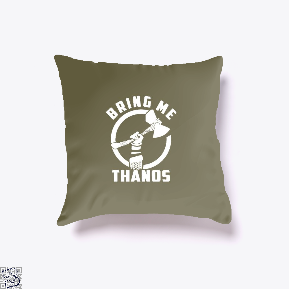 Bring Me Thanos Avengers Infinity War Throw Pillow Cover - Brown / 16 X - Productgenapi