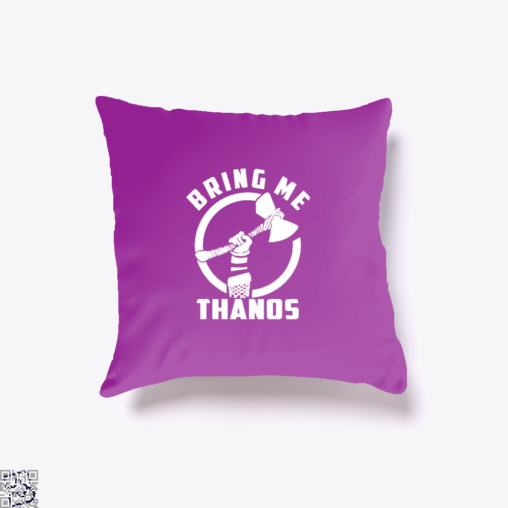 Bring Me Thanos Avengers Infinity War Throw Pillow Cover - Purple / 16 X - Productgenapi