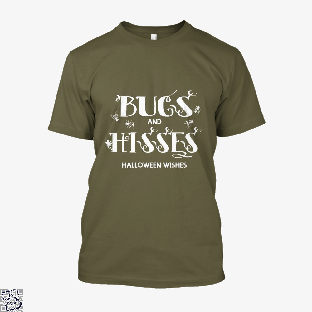 Bugs And Hisses Halloween Wishes Shirt - Men / Brown / X-Small - Productgenjpg