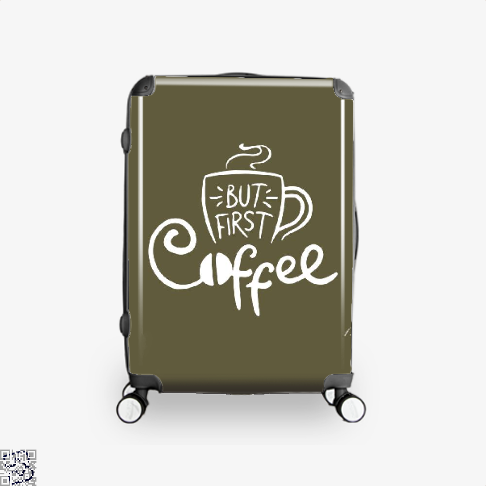 But First A Cup Of Coffee Suitcase - Brown / 16 - Productgenapi