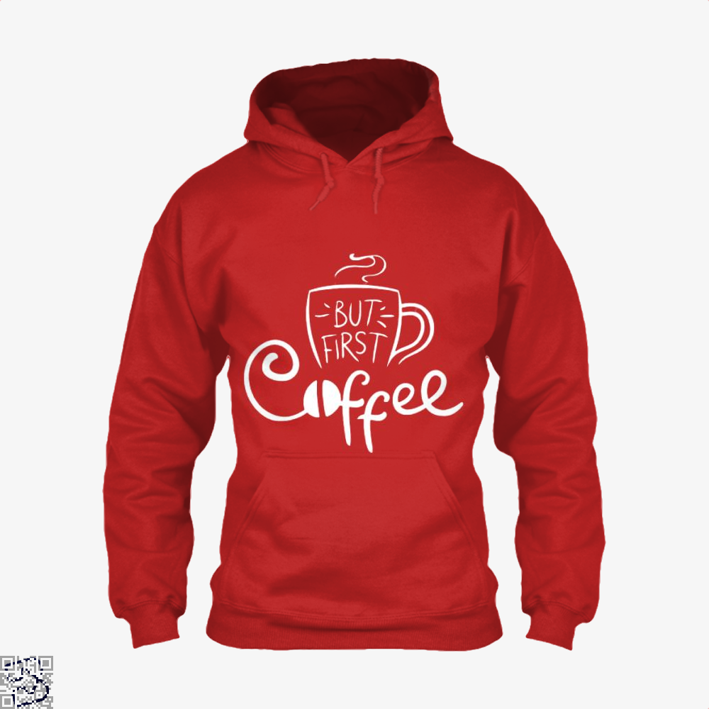 But First Coffee Beans Hoodie - Red / X-Small - Productgenapi