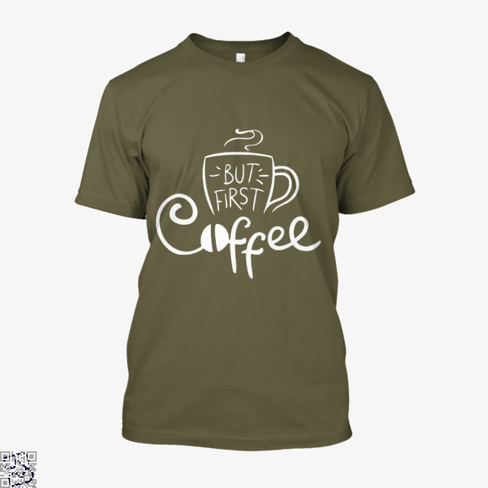 But First Coffee Beans Shirt - Men / Brown / X-Small - Productgenapi