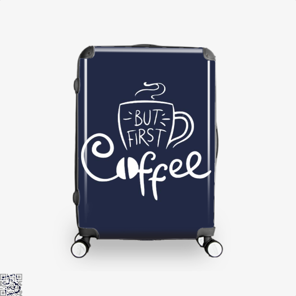 But First Coffee Beans Suitcase - Blue / 16 - Productgenapi