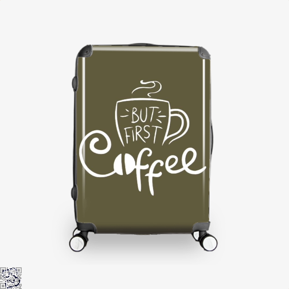 But First Coffee Beans Suitcase - Brown / 16 - Productgenapi