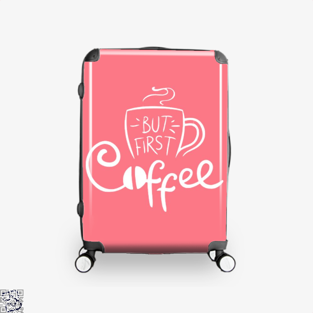 But First Coffee Beans Suitcase - Pink / 16 - Productgenapi