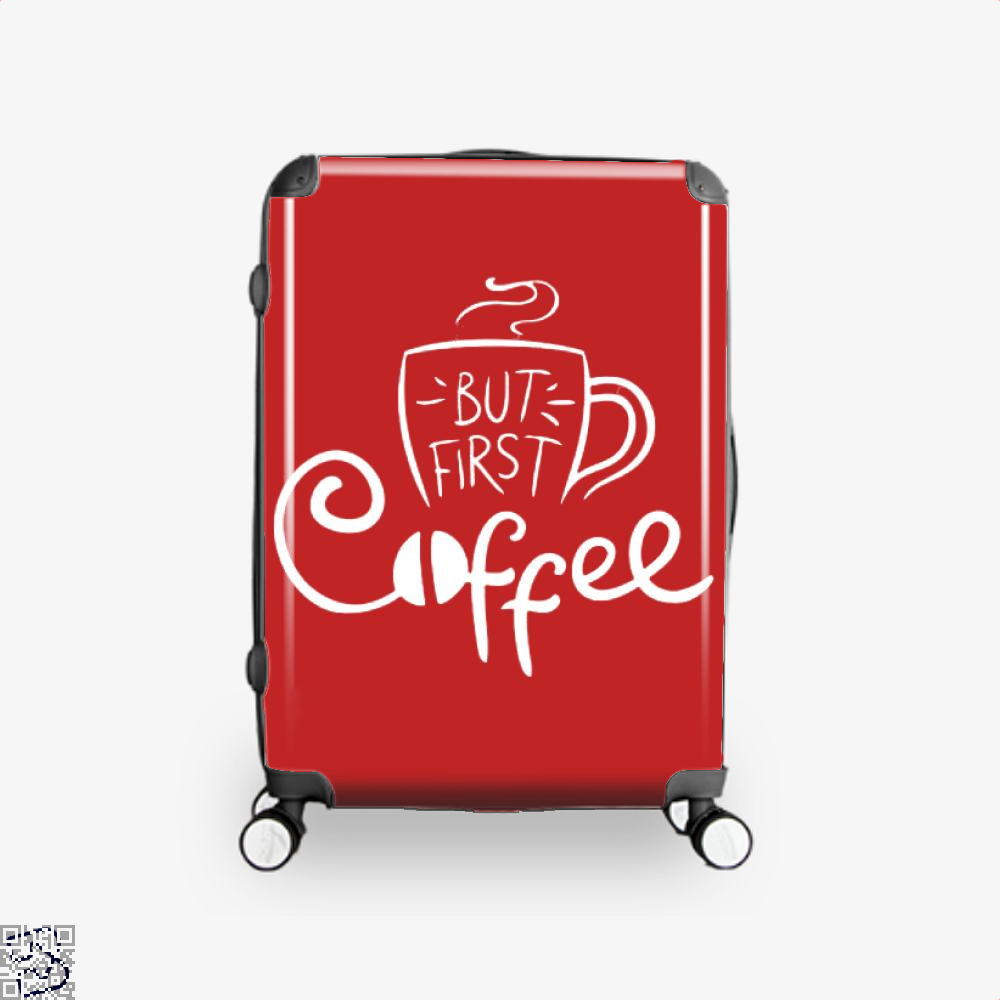 But First Coffee Beans Suitcase - Red / 16 - Productgenapi