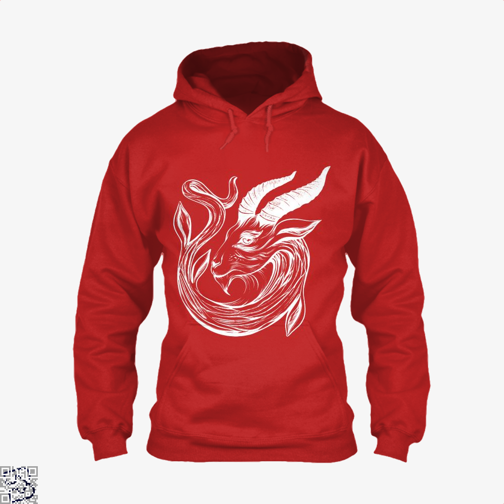Capricorn Astrology Hoodie - Red / X-Small - Productgenapi