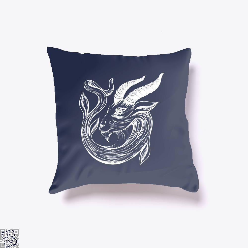 Capricorn Astrology Throw Pillow Cover - Blue / 16 X - Productgenapi