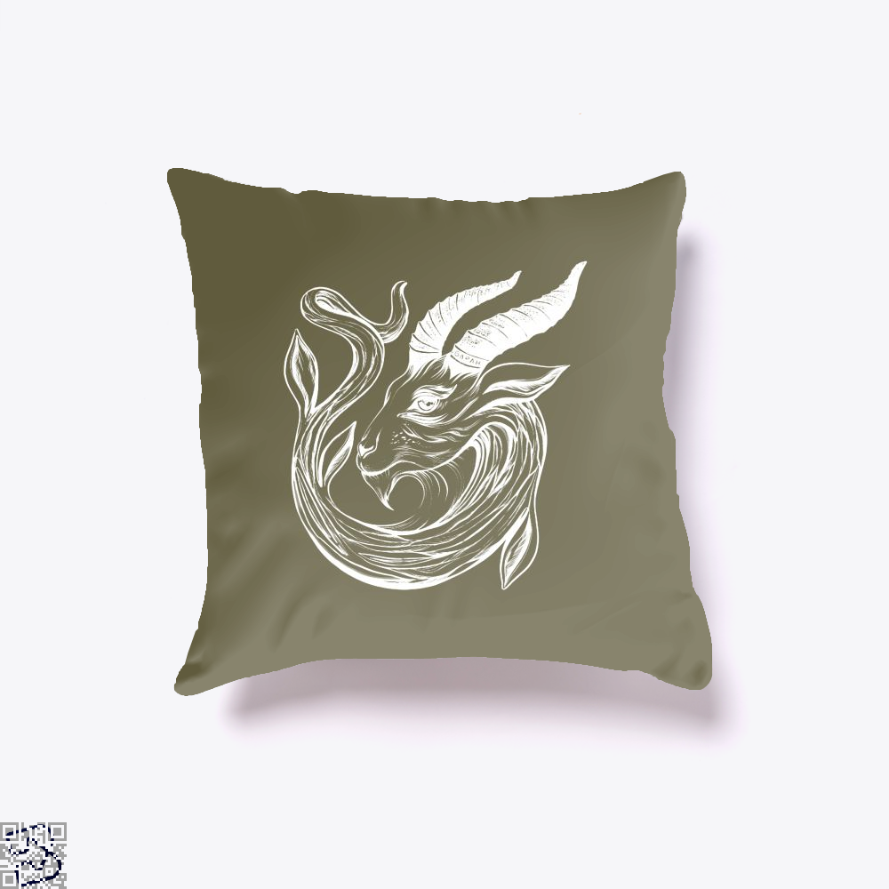 Capricorn Astrology Throw Pillow Cover - Brown / 16 X - Productgenapi