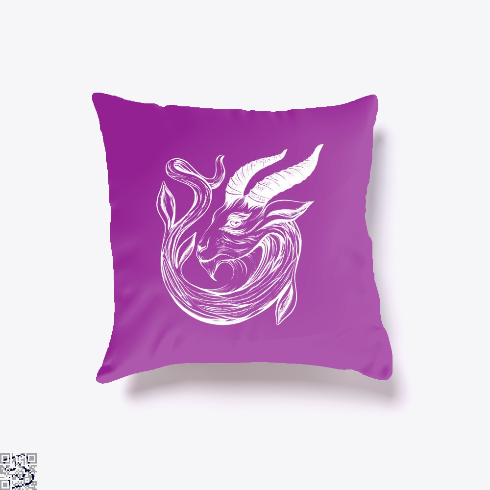 Capricorn Astrology Throw Pillow Cover - Purple / 16 X - Productgenapi