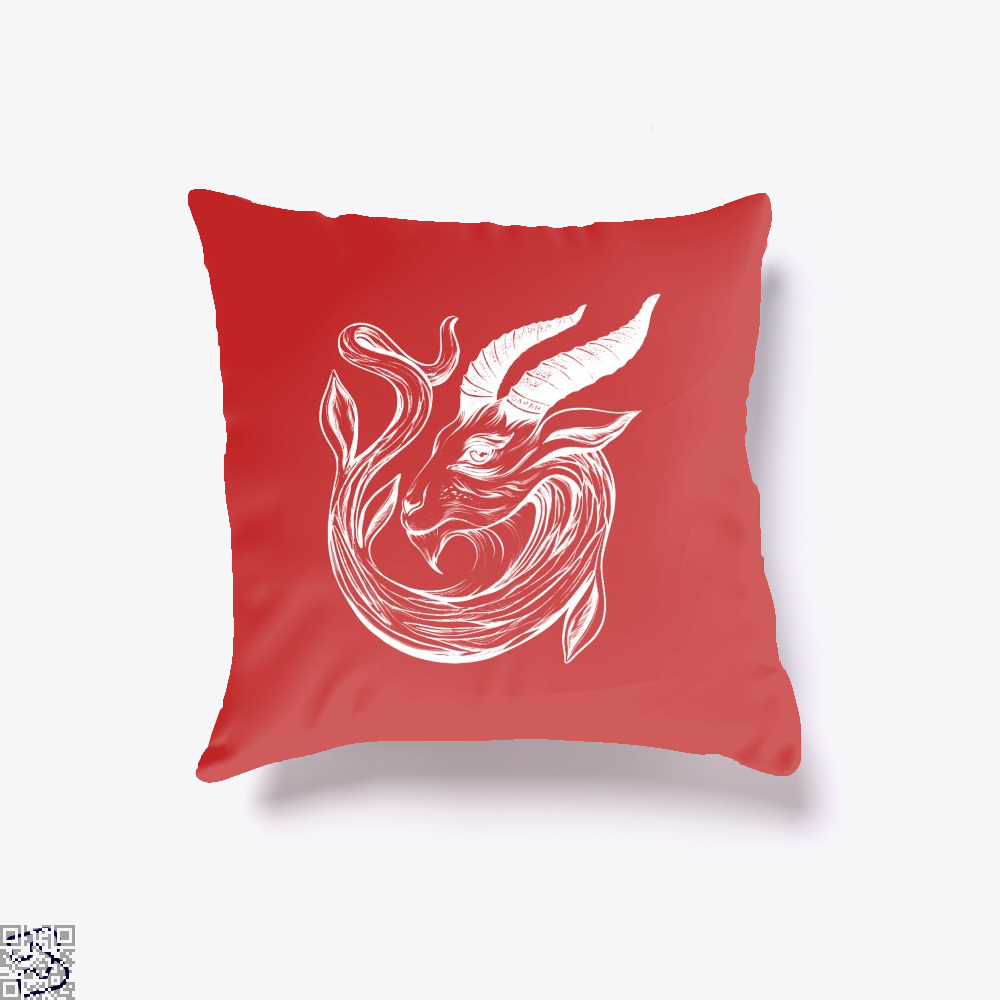 Capricorn Astrology Throw Pillow Cover - Red / 16 X - Productgenapi