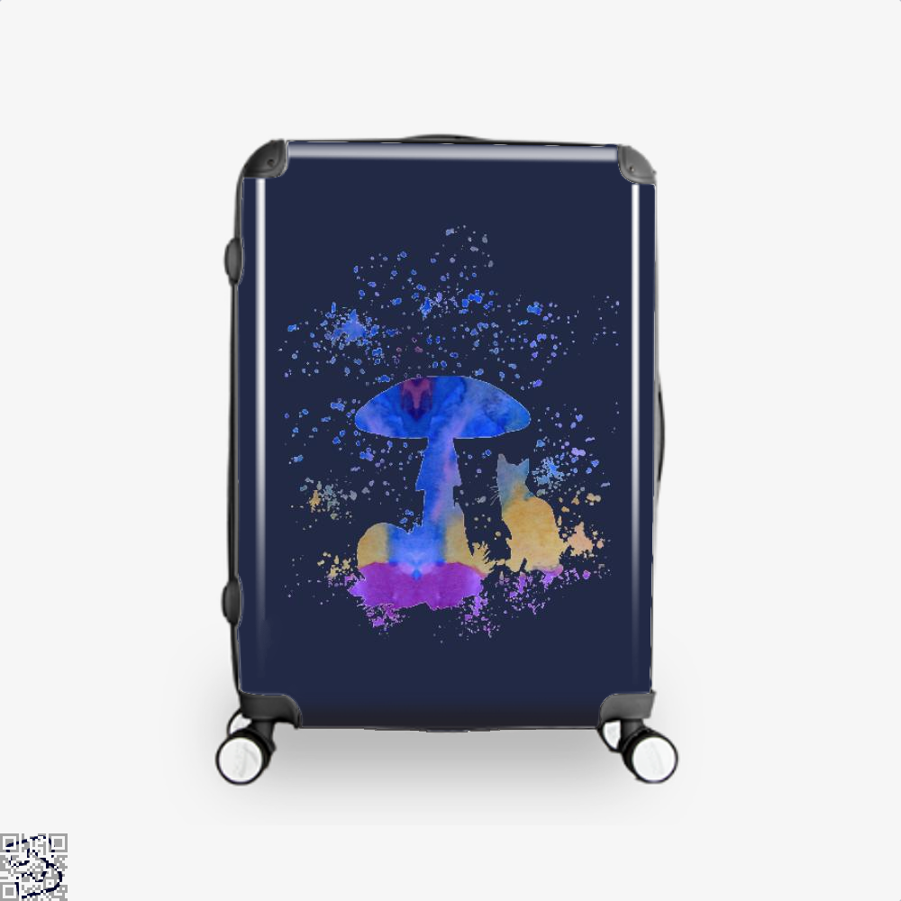 Cat And Mushroom Suitcase - Blue / 16 - Productgenjpg