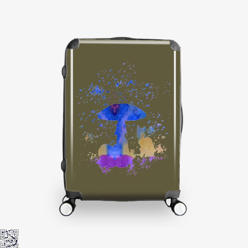 Cat And Mushroom Suitcase - Brown / 16 - Productgenjpg