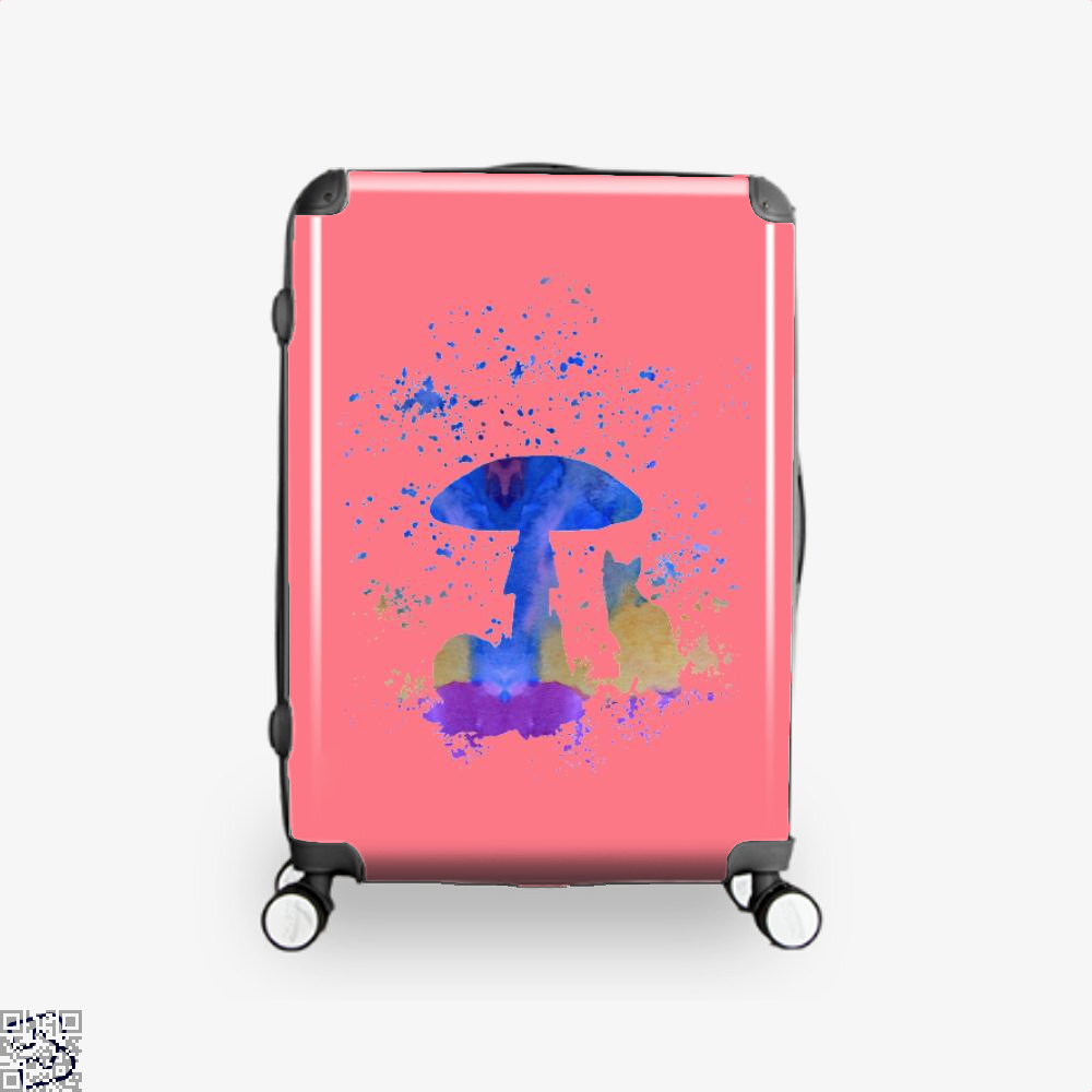 Cat And Mushroom Suitcase - Pink / 16 - Productgenjpg