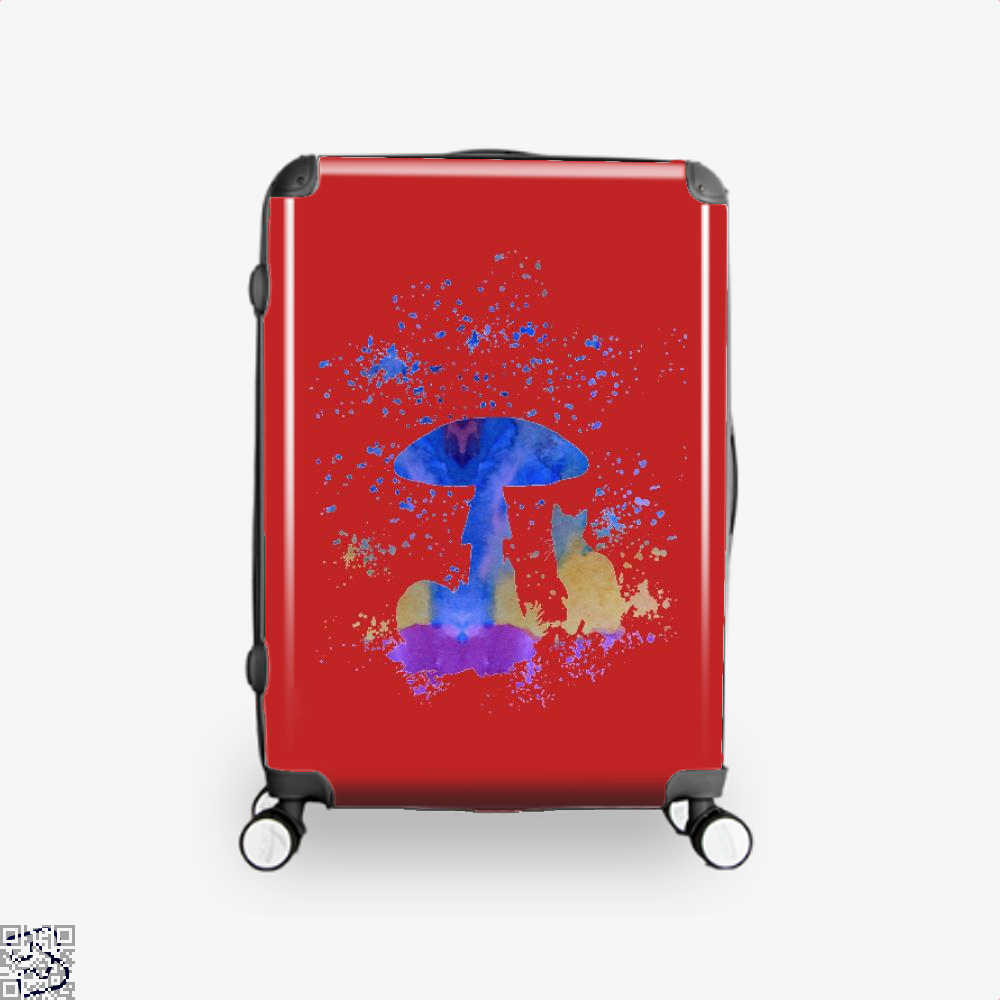Cat And Mushroom Suitcase - Red / 16 - Productgenjpg