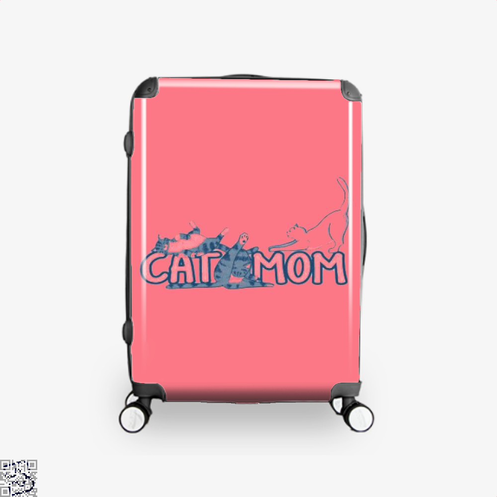 Cat Mom Mothers Day Suitcase - Pink / 16 - Productgenjpg