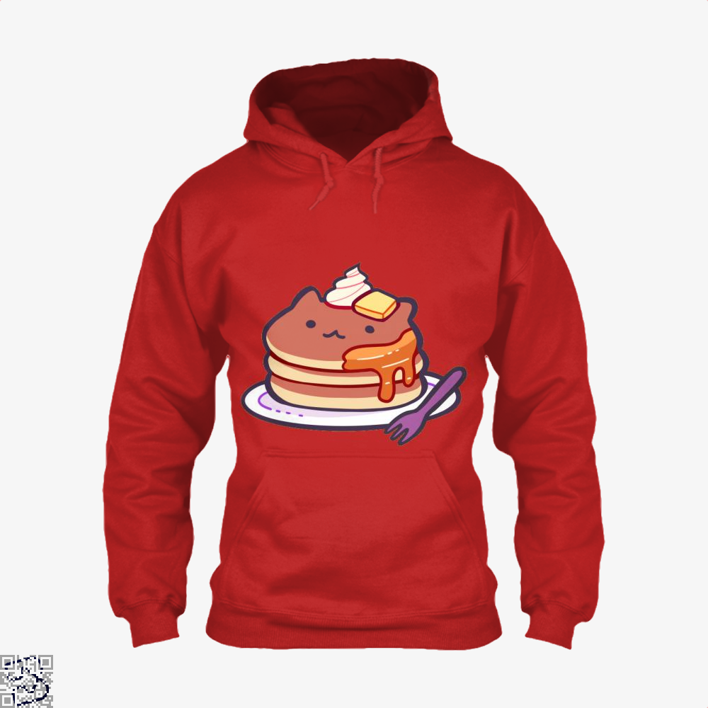 Cat Pancakes Waffle Hoodie - Red / X-Small - Productgenapi