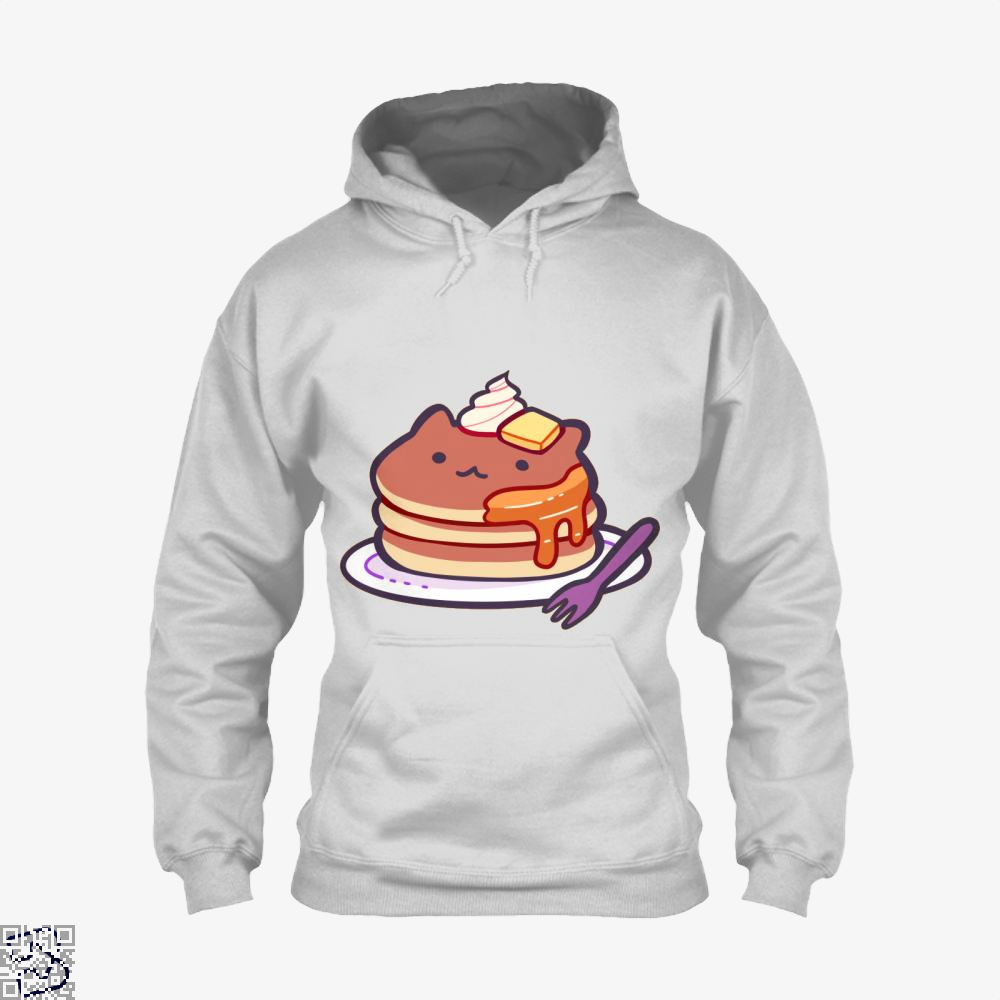 Cat Pancakes Waffle Hoodie - White / X-Small - Productgenapi