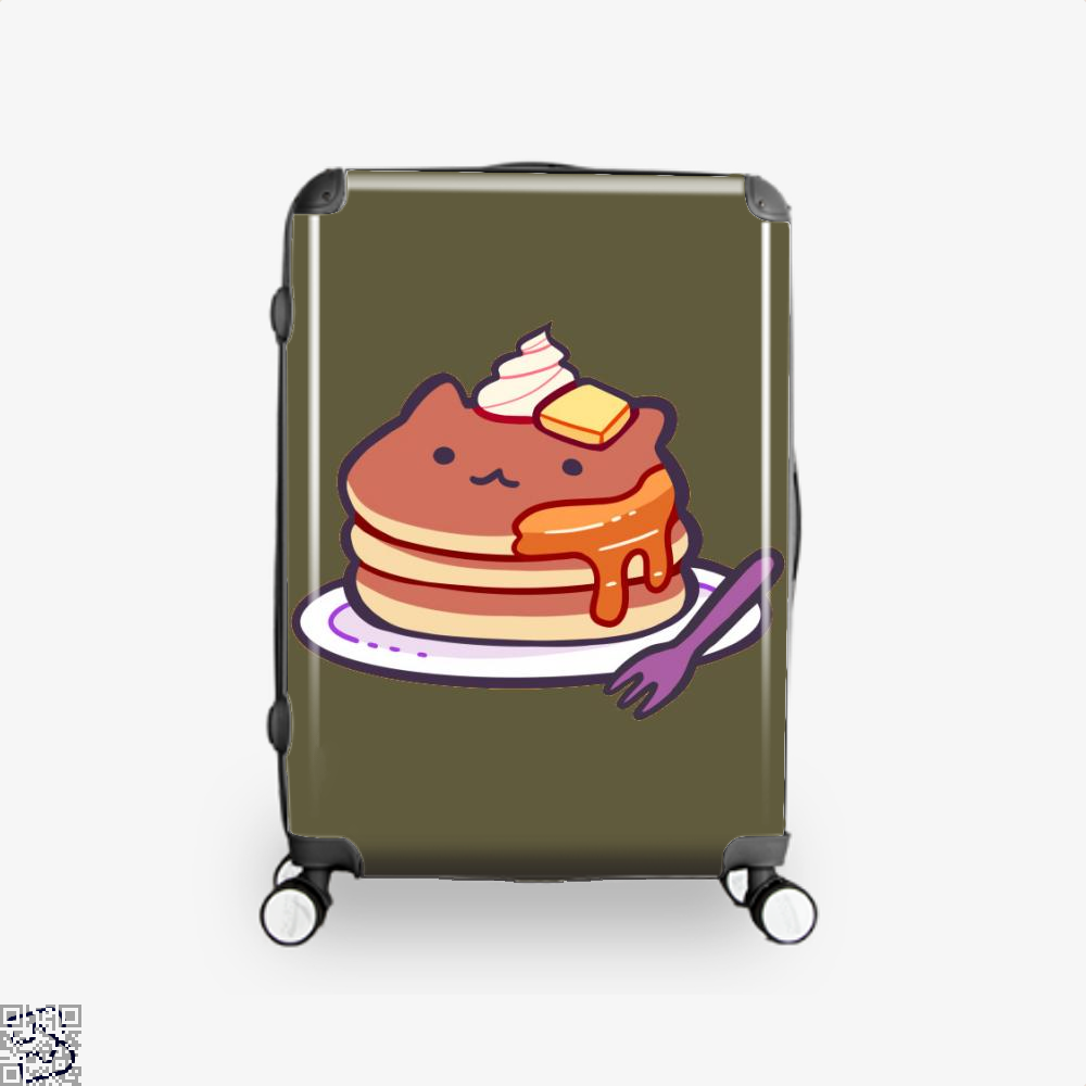 Cat Pancakes Waffle Suitcase - Brown / 16 - Productgenapi