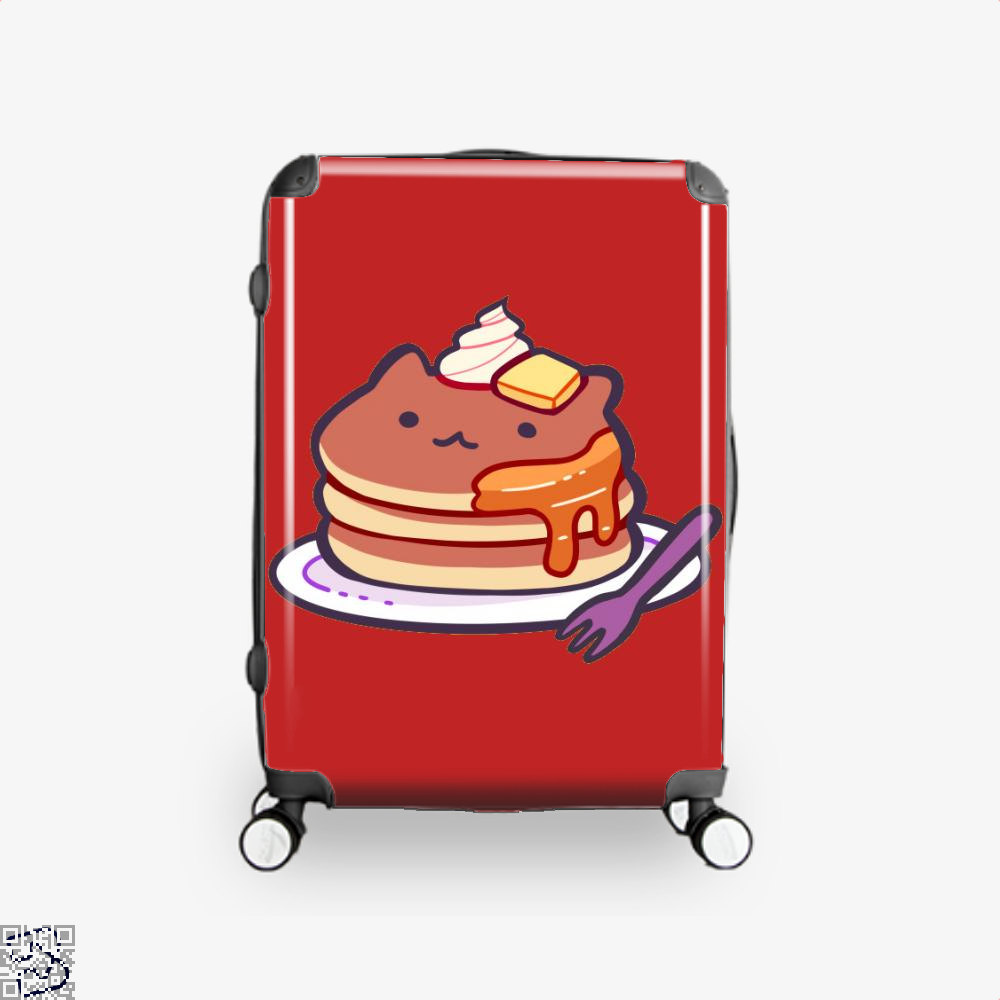 Cat Pancakes Waffle Suitcase - Red / 16 - Productgenapi